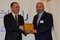 Fr. Dr. Walid Moussa, Notre Dame University (NDU) President, receiving shield of appreciation